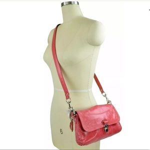 NWT Coach Poppy Leather Layla Shoulder Bags Pink